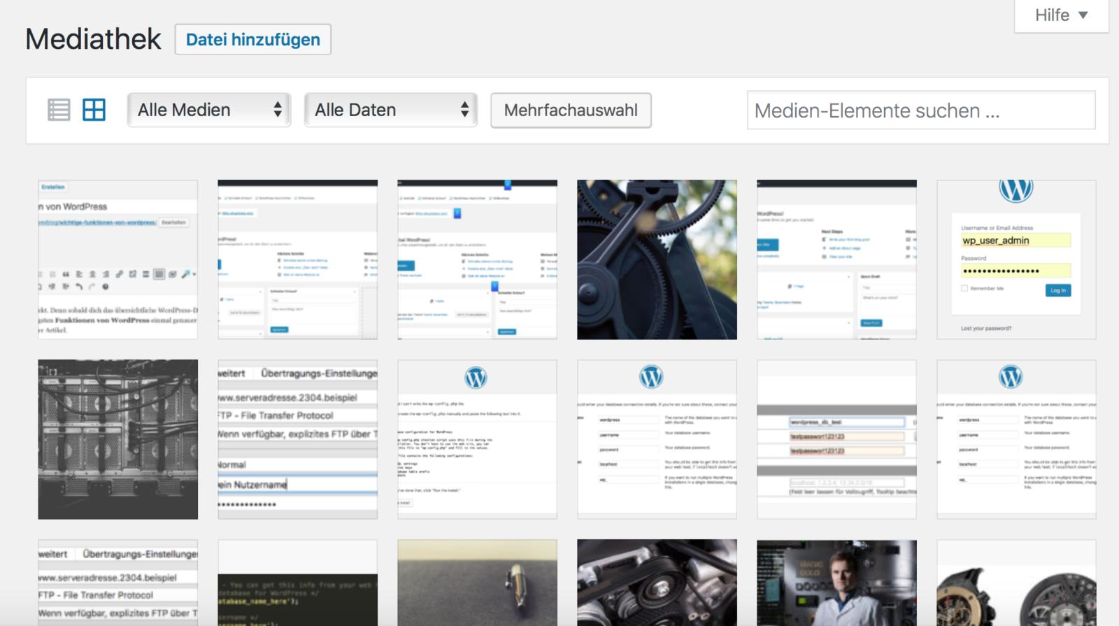 WordPress Mediathek