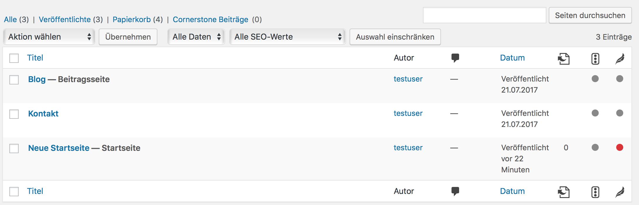 Alte Startseite aus WordPress löschen