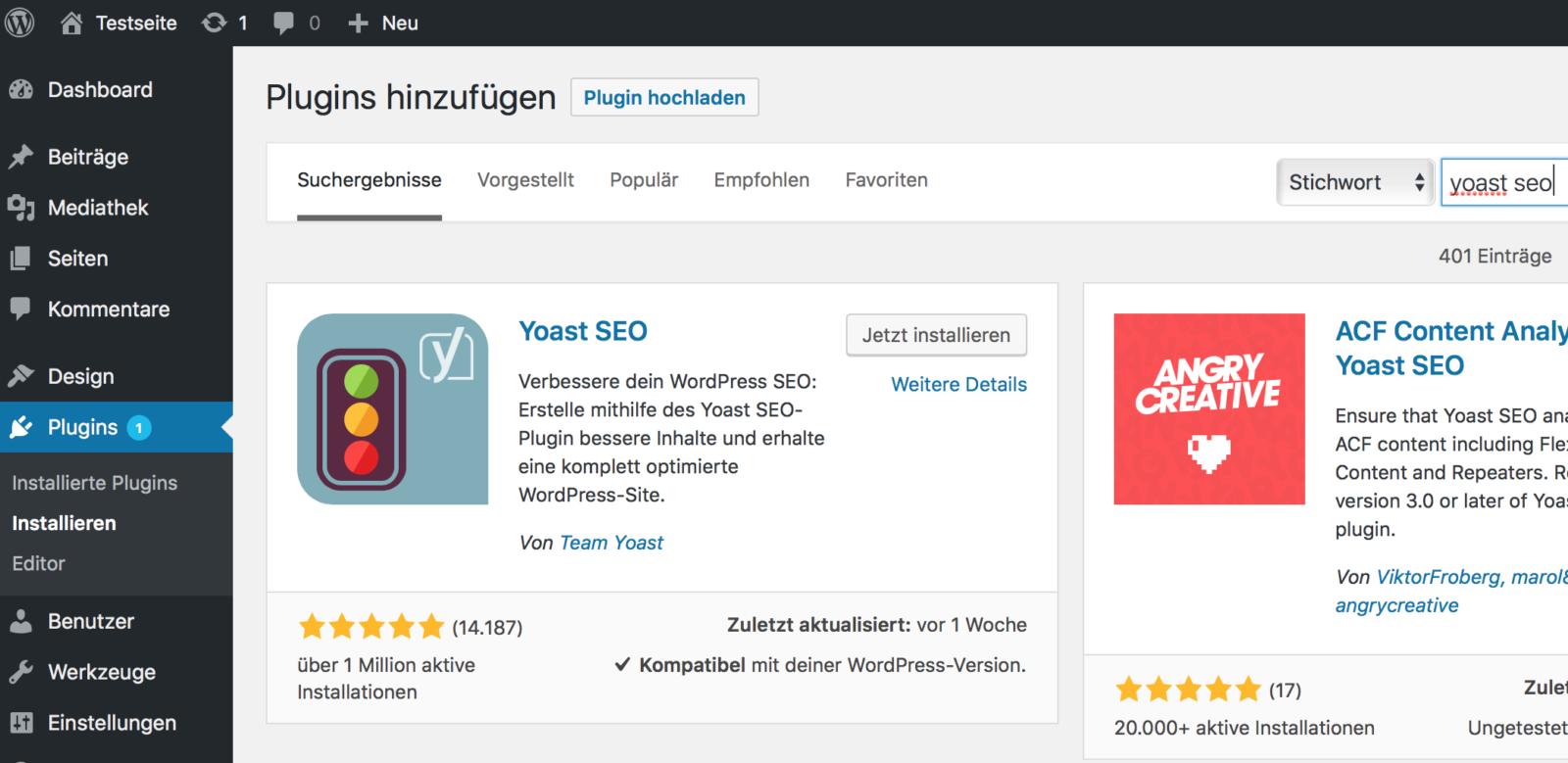 WordPress richtig nutzen und Yoast SEO installieren