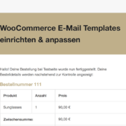 Anleitung: WooCommerce E-Mails anpassen