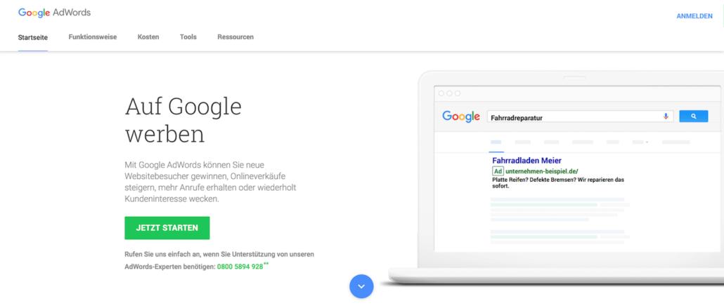 Google Anzeigen mit AdWords erstellen
