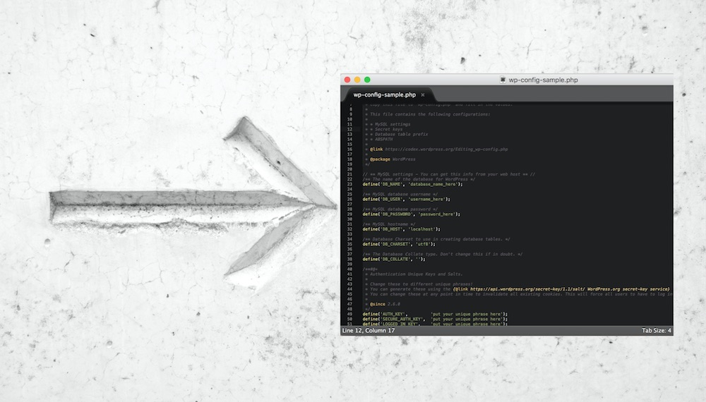 Konfigurationsdatei wp-config.php absichern