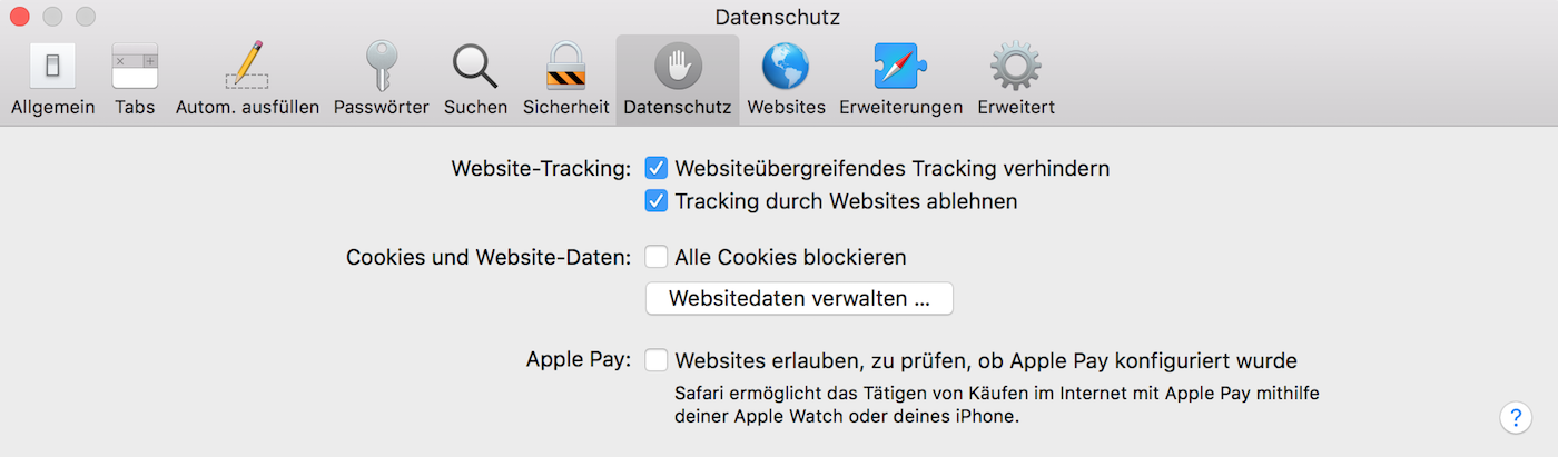 "Die ""Do-not-Track-Einstellung"" im Safari-Webbrowser"