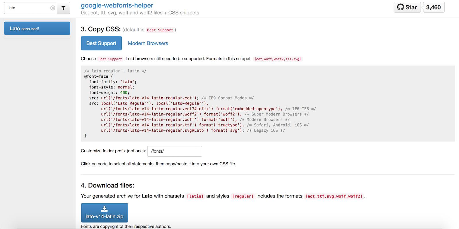 Über die Hilfsressource lassen sich Google Fonts als ZIP herunterladen und DSGVO-konform einbinden