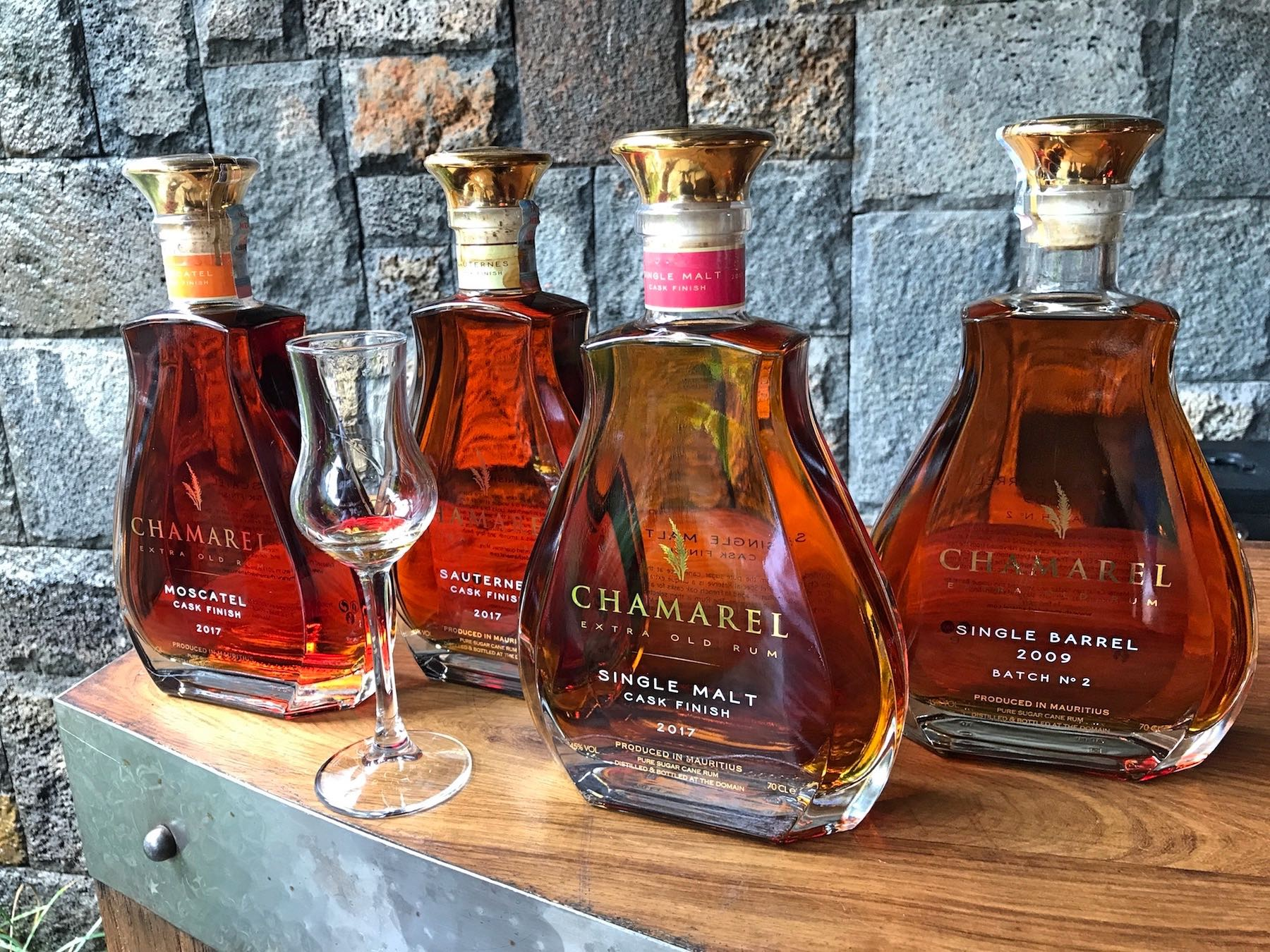 Chamarel Single Barrel Rum: Moscatel, Single Malt und Sauterness