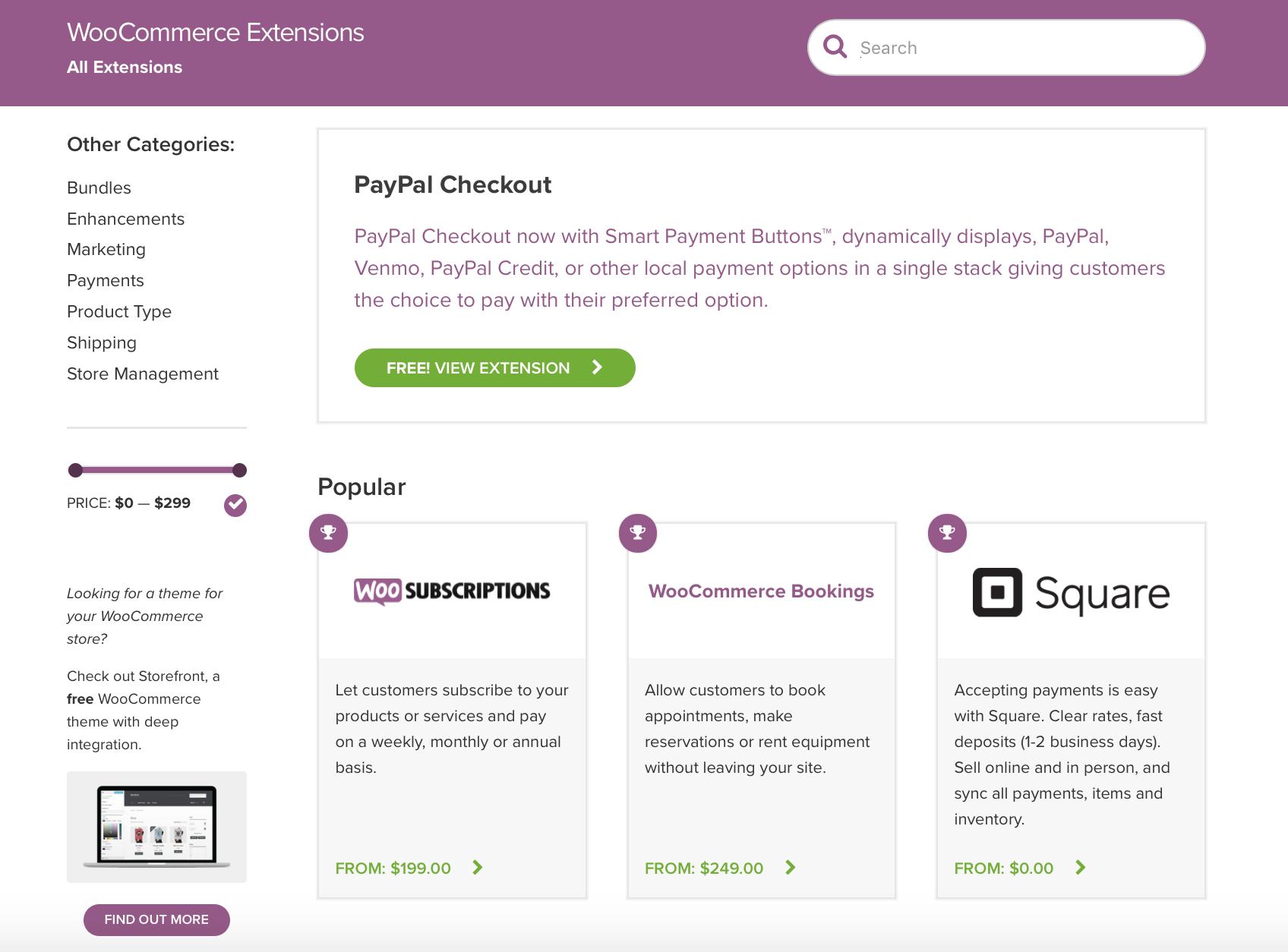 Einer der Vorteile von WooCommerce liegt in den Extensions des WooCommerce Stores