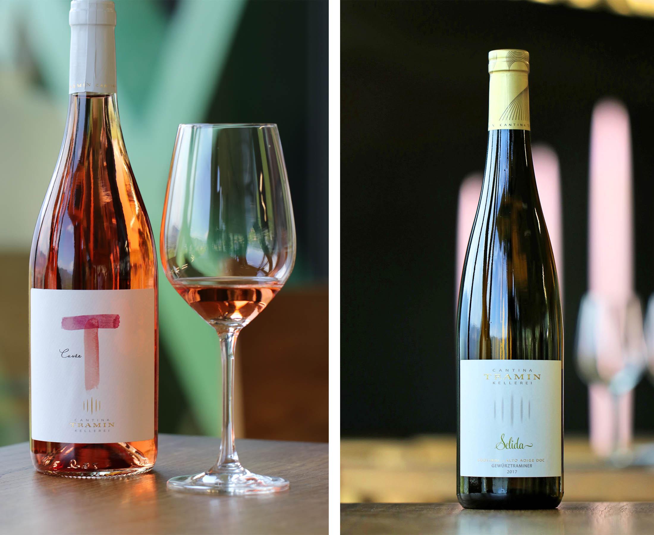 Gewürztraminer und Rose Wein