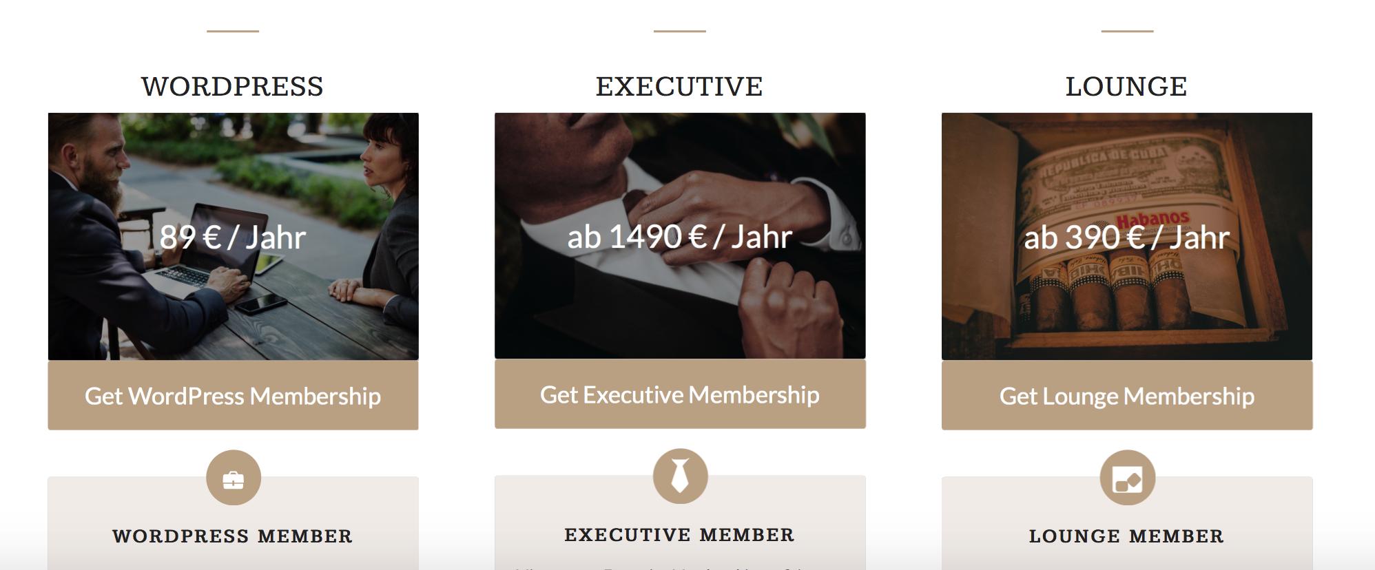 Beispiel Mitgliederbereich