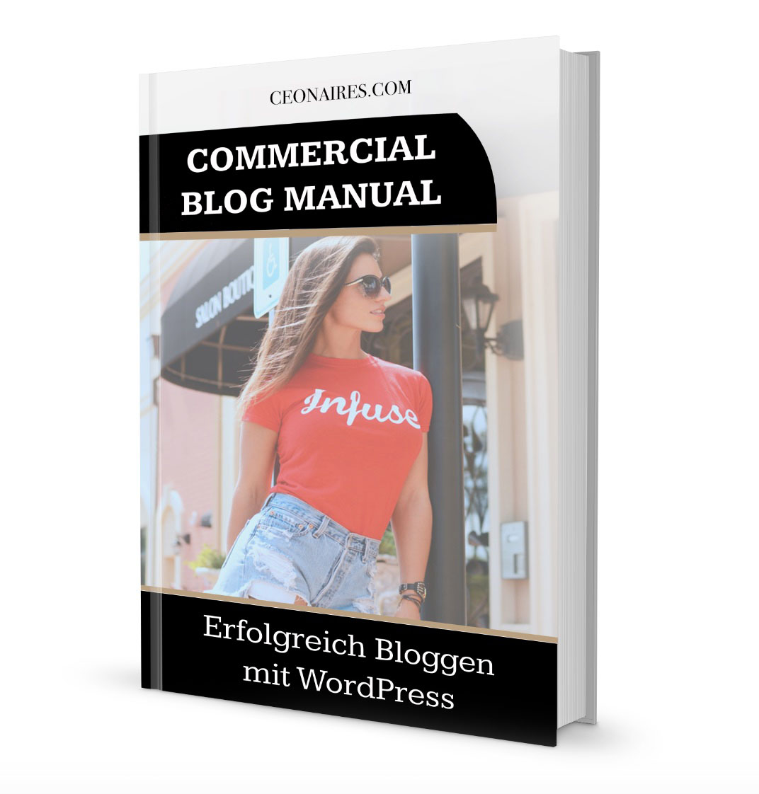 Commercial Blog Manual für WordPress und Blogger