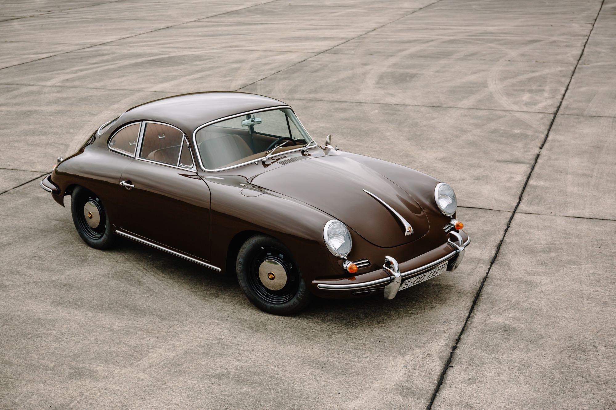 Frontansicht des Porsche 356 C
