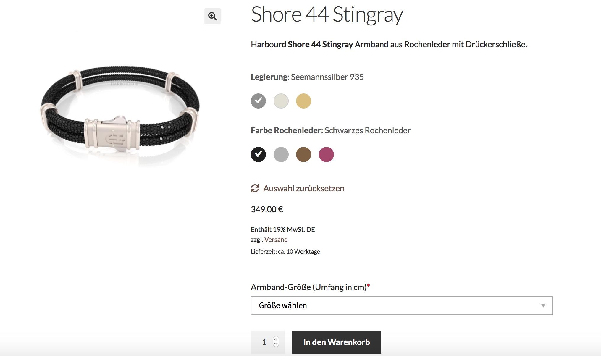 WooCommerce Konfigurator am Beispiel von Harbourd Jewelry