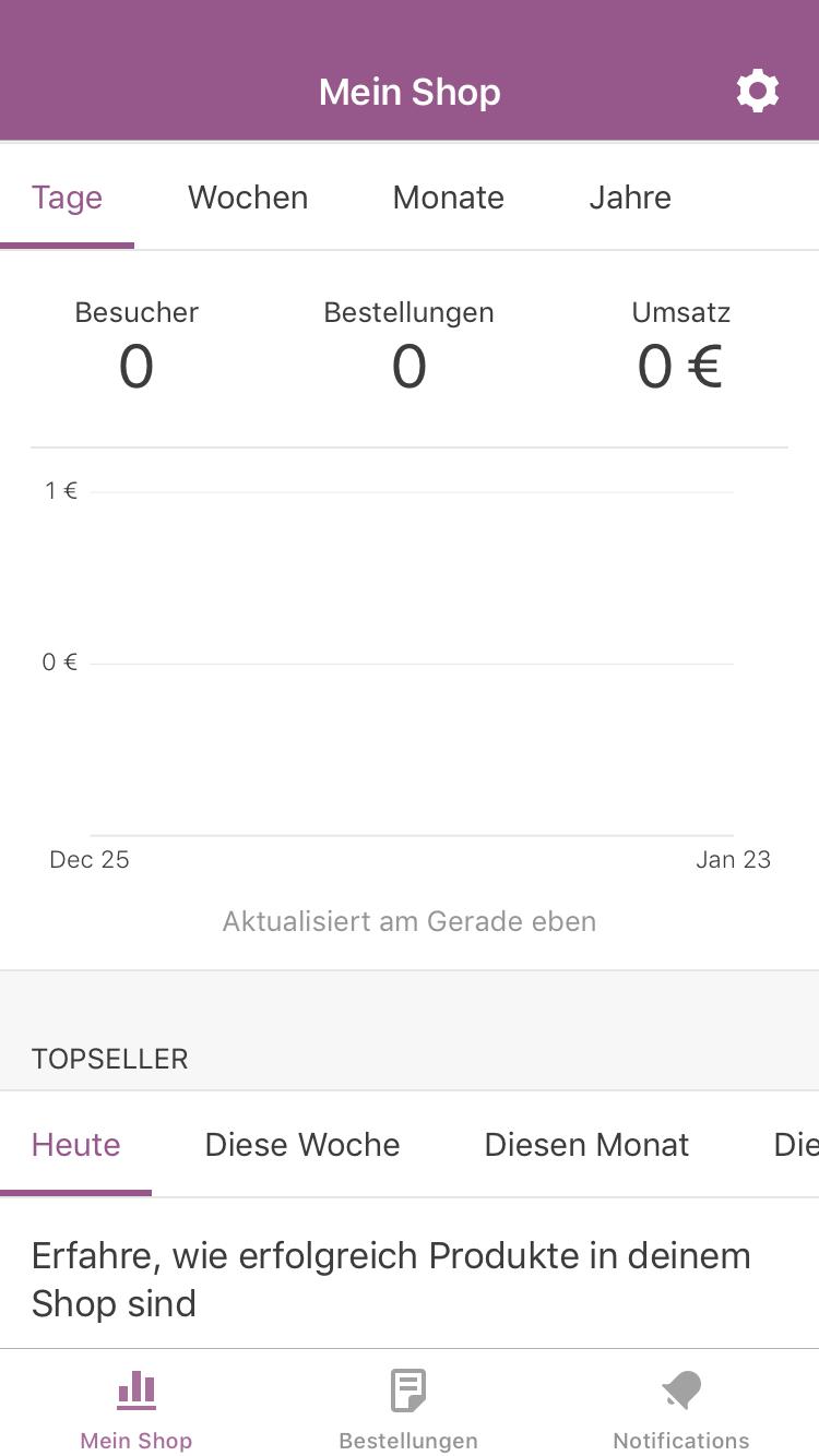 Mein Konto der WooCommerce App