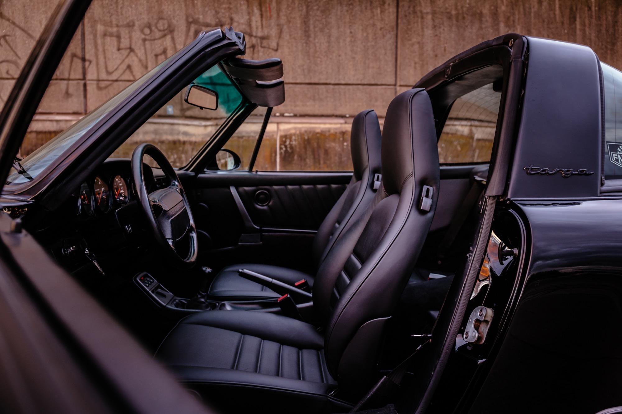Lederinterieur Schwarz Porsche 964 Targa