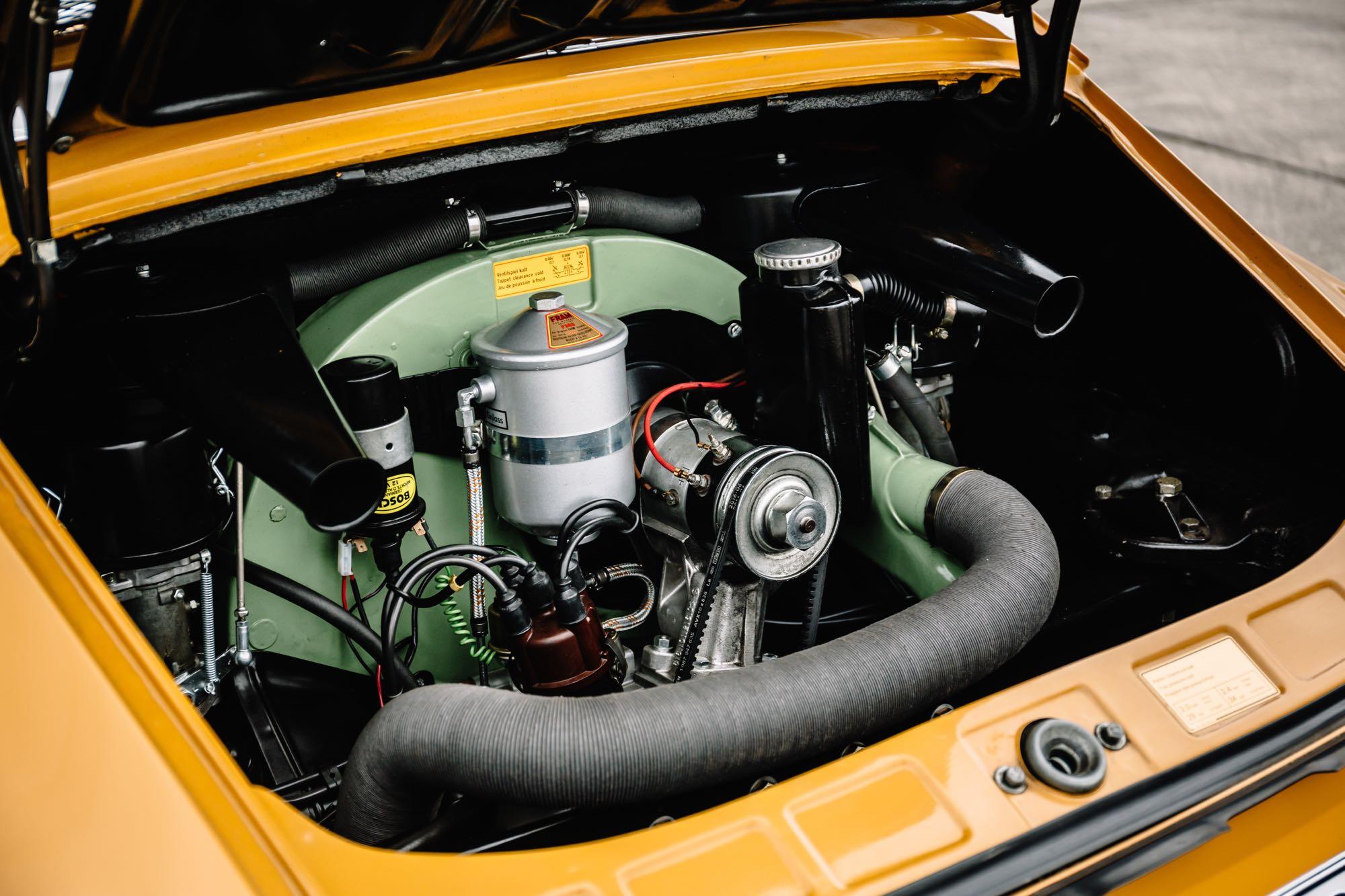4-Zylinder Heckmotor des 912ers mit 90 PS