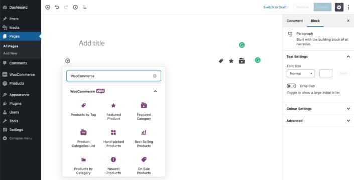 WooCommerce 3.7 Update kommt mit Product Blocks