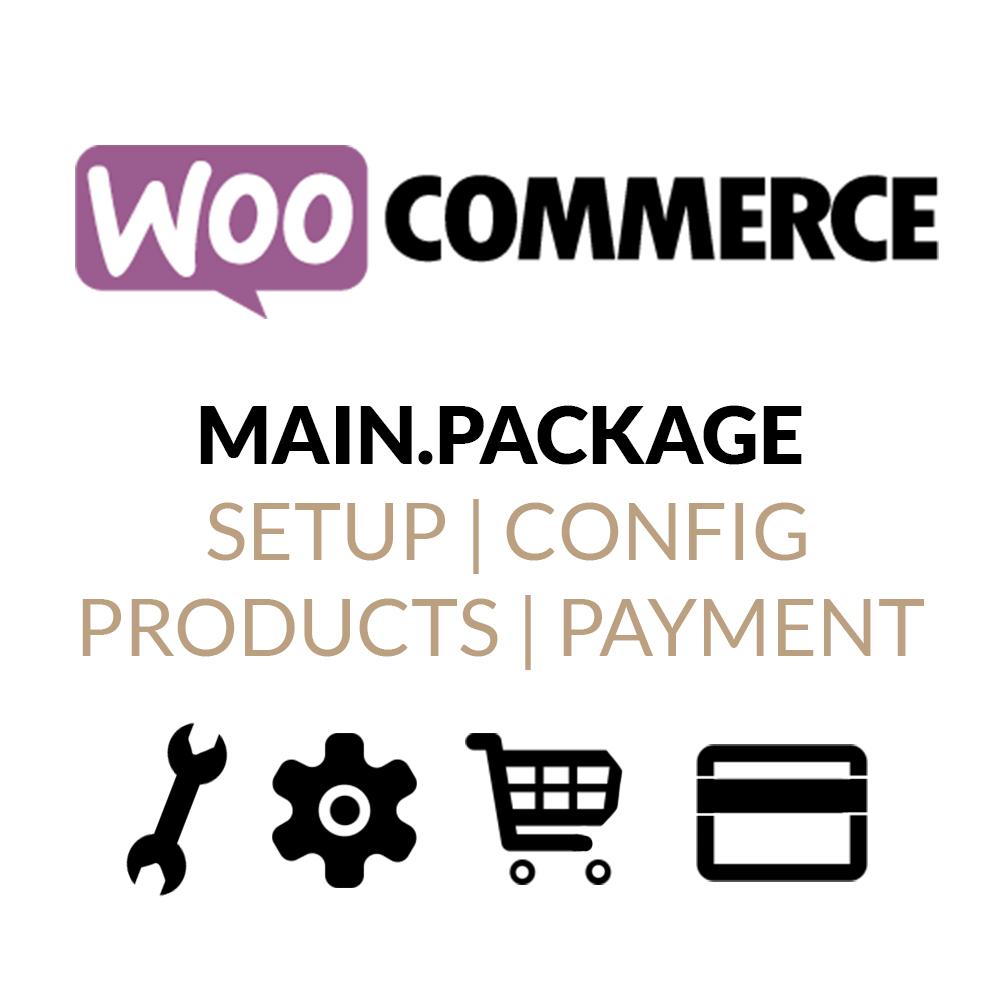 WooCommerce-Main.Package mit Installation, Konfiguration, Produkteinrichtung und Zahlung