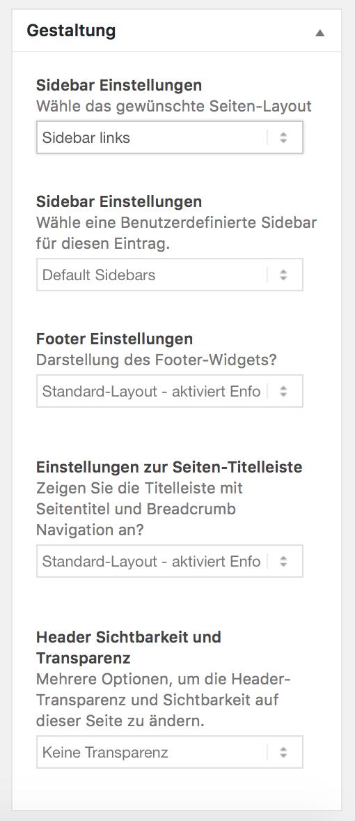 Widget für Gestaltung der Sidebar in WordPress
