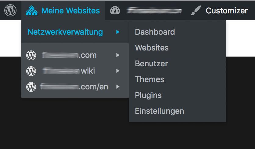WordPress Multisite Netzwerkverwaltung aufrufen