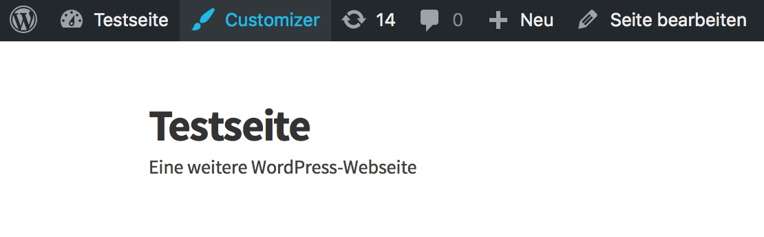 WordPress Customizer aufrufen