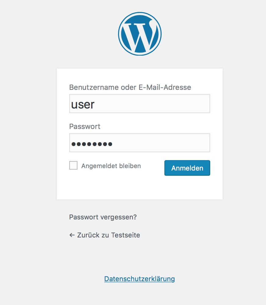 WordPress Login aufrufen